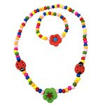 Kids Wooden Ladybug and Flower Necklace and Bracelet Set – Spinnaker Collection