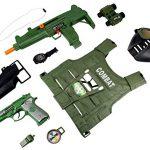 Special V Force Combat Army Soldier 10 Piece Children Kid's Pretend Play Friction & Battery Powered Toy Gun Playset w/ Gun, Pistol, Vest, Accessories
