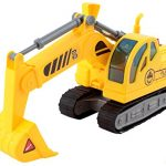 Memtes Friction Powered Excavator Tractor Toy Truck with Lights and Sound for Kids