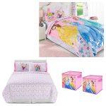 Disney Princess Reversible 6-pc. Comforter, Sheets, Pillow Case and Collapsible Storage Cubes Set - Kids