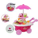 Leegor New Kids Toys 1Set (39pcs) Simulation Mini Candy Ice Cream Trolley Shop Pretend Play 39PC Kids Developmental Toy Christmas Gift