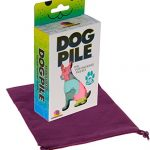 DOG PILE The Pup-Packing Puzzle _ Bonus Purple Velveteen Drawstring Pouch _Bundled Items