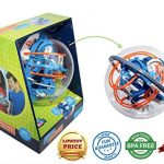 Maze Globe 3D Puzzle Maze Ball | 80 Challenging Obstacles | Educational 3D Labyrinth For Kids & Adults | Enhance Hand & Eye Coordination | Improve Focus and Patience