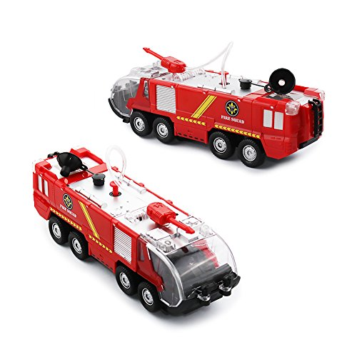Pumper Fire Truck Netcosy Squad Water Cannon Fire Truck Toys Bump and Go Kids Toy Action Engine with Lights and Sound