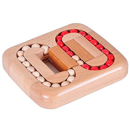 Extpro Wooden Ball Maze Puzzle Lock Burr Puzzles Brain Teaser IQ Intelligence Toys for Kids Age 6-10