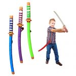 Toy Cubby Plastic 24 Inches Samurai Katana with Cloth Wrapped Handles - 4 Pieces