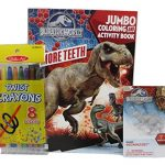 Jurassic World Coloring Book with Indominus Rex 3D Puzzle Eraser and Studio Art Twist Crayons