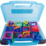 Magnetic Educational Toys Storage Organizer. Get Your Kid's Magnet Building Kits Off The Floor And Into My Magnet Box. Compatible With All Magnetic Educational Toys. Large Sturdy Case And Handle.