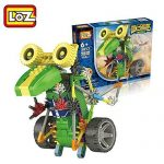 Robotic Building Set Block Toy ,Battery Motor Operated,3D Puzzle Design Alien Primate Robot Figure for kids and adults , Sturdy Enough , 105 parts(Dinosaur)