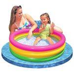 Intex Baby Sunset Glow Pool Game Slide Inflatable Kids Backyard Fun Play Center Summer Outdoor Pool Fun Swimming