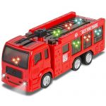 Kids Toy Fire Truck Electric Flashing Lights and Siren Sound, Bump and Go Action For Boys Favorite Truck