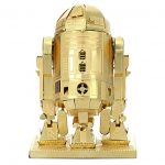 YUYE Metal Model DIY Assembly Model 3D Jigsaw Metal Earth Star Wars Model Kit-R2D2 Robot)