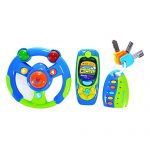 FunsLane Musical Steering Wheel, Cell Phone and Key Toy Set for Baby