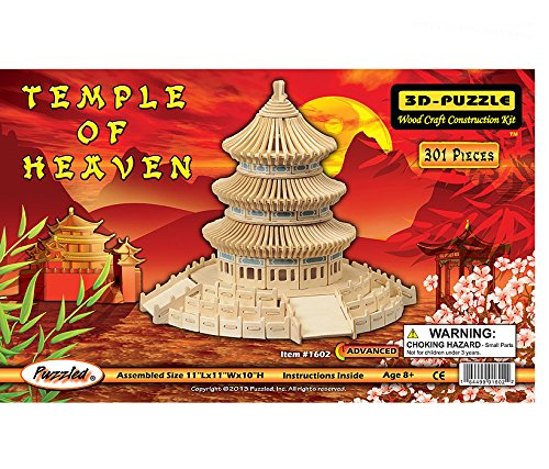 YinheMed DIY 3D Wooden Puzzle - Temple of Heaven Cedarwood - Handmade Jigsaw Woodcraft Kit Wooden Handcraft Educational Products Wooden Art Intarsia