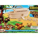 Puzzled Noah's Ark 3-D Wooden Puzzle Construction Kit - Boats Theme - Affordable Gift For Kids and Adults - Item #1613