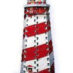 Lighthouse, 77 Piece Mini 3D Puzzle Made by Wrebbit Puzz3D