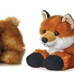 "Bundle of 2 Aurora Plush Forest Animals - BITTY Rabbit Bunny and Foxxie Fox Mini Flopsie 8"" Stuffed Animals Plush"