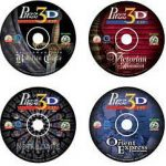 Puzz 3D CD Value Set - Neuschwanstein Bavarian Castle, Orient Express, Victorian Mansion and Notre Dame Cathedral