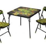 Nickelodeon Teenage Mutant Ninja Turtles 3-Piece Square Table and Chair Set