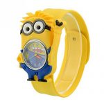 Kids Watch Despicable Me, Minion, Slap Watch, Girls, Boys Educational -Time Teacher (Minion Stuart)