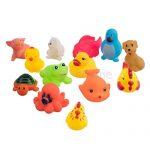 13Pcs assorted cute soft rubber float sqeeze sound baby wash bath play toy, animals toys