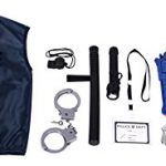Police Costume for kids with Toy Role Play Kit with Bag Included