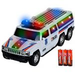 Toysery SUV Police Car With Lights And Sirens Bump And Go Super 3 AA Battery Included