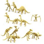 Pixnor Assorted Dinosaur Fossil Skeleton Figures Kids Toy 12pcs