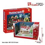 3d Puzzle Chirstmas Cottage Magic Box Works together with iPad Cubicfun OM3605 30 Pieces Decorative Best Seller Exiting Fun Building Game DIY Holiday Kids Best Toy