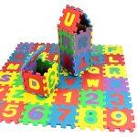 Leoy88 36pcs Baby Toy Number Alphabet Puzzle Foam Mat Educational