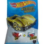 Hot Wheels Mystery Model Pack Includes 1 Car and 1 Sticker