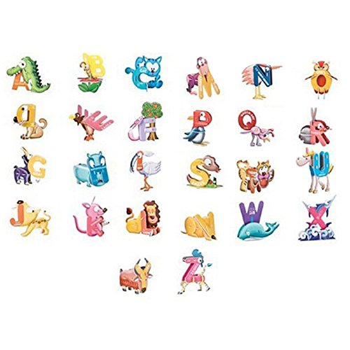 SYEER ABC Animal Letter 3D Puzzle Alphabet Children Intelligence Toys Puzzle Gift Jigsaw Card