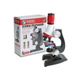 Lifespark Microscope Beginner for Kids,Science Toy Microscope Kit with LED 100X, 400x, and 1200x Magnification