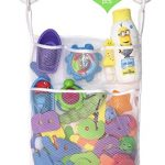 Bath Foam Letters and Numbers - 36 pc, AND Mold Resistant Mesh Tub Toy Organizer By Lilly's Love