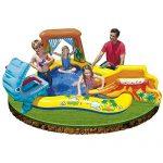 Kids Summer Fun Backyard Fun Play Intex Dinosaur Water Slide Inflatable Center Outdoor Pool Swimming