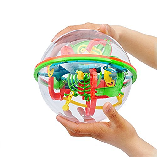 OWIKAR Magic 3D Maze Ball Intelligence Ball Labyrinth Puzzle Game Globe Toys 100 Challenging Levels Barriers Best Educational Toys For Children 5-15 Years Old