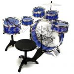 11pc Kids Boy Girl Drum Set Musical Instrument Toy Playset