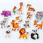 Refrigerator Magnets for kids ZOO - 14 Foam magnets for toddlers - Magnetic toys for baby - Developmental toys for children - Educational toys for 2 year olds