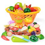 NextX Cutting Fruits Pretend Food Playset For Kids Educational Learning Toy Kitchen Accessory 20 Piece