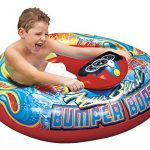 Banzai Aqua Blast Inflatable Motorized Water Blaster Bumper Boat for Kids