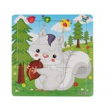 "Learning Puzzles,Malltop Cute Cartoon Rabbit Wooden Jigsaw Toys For Kids Education 5.8""x5.8"""