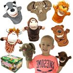Joyin Toy Animal Friends deluxe Hand Puppets with Working Mouth (Pack of 6) for Imaginative Play