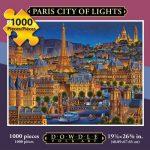 "Jigsaw Puzzle - Paris ""City of Lights"" 1000 Pc By Dowdle Folk Art"