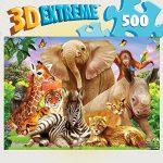 MasterPieces 3D Extreme Lenticular Portrait Pals Jigsaw Puzzle, 500-Piece