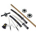 Ninja Warrior Weapons Playset with 2 Kantana Swords, 2 Sais, Bow Staff, Kunai and Ninja Stars