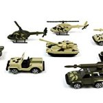 Boley Die Cast Army Trucks 24pc Party Pack - Assorted Tanks, Trucks and Helicopters