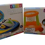 Floating Hoops and Ride on Wave Rider Inflatable Pool Toys Bundle of 2