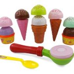 Liberty Imports Ice Cream Party Fast Food Cooking & Cutting Play Set Toy for Kids