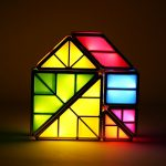Tangram Puzzle Desk Lamp, 3D Rechargeable Teris LED Light Table Decorative Lights Stackable Magnetic Toys Night Light- A Good Gift for Kids by AOWIN