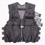 Kids Police, Swat, Navy Seal, Combat Vest, 3 Badges with Vest, Fits 5 - 12 years
